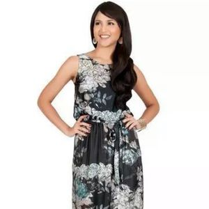 Koh Koh Sleeveless Floral Casual Summer Maxi Dress